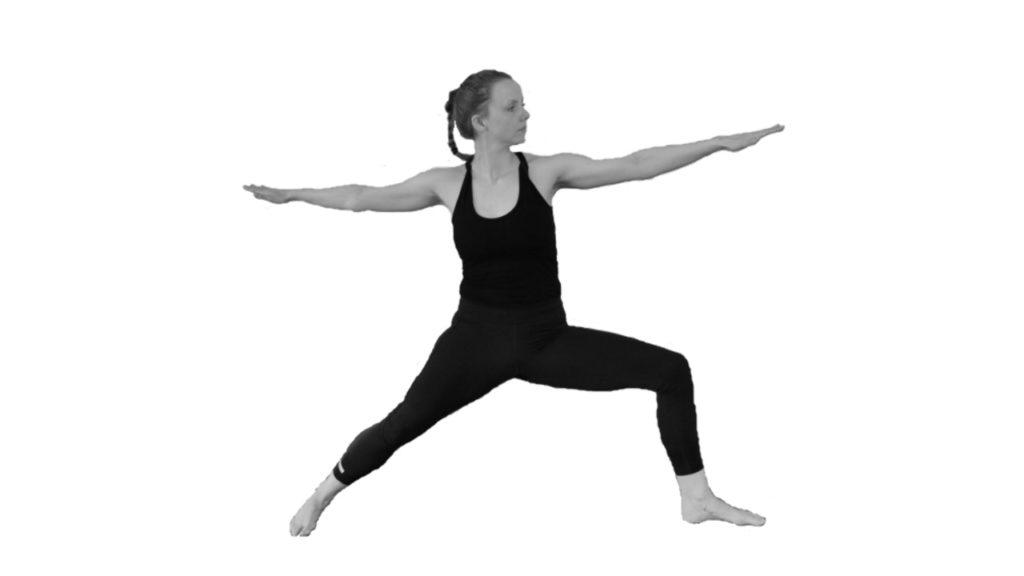 virabhadrasana yoga krijger houding