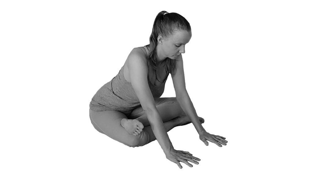 sukhasana heupopener yoga