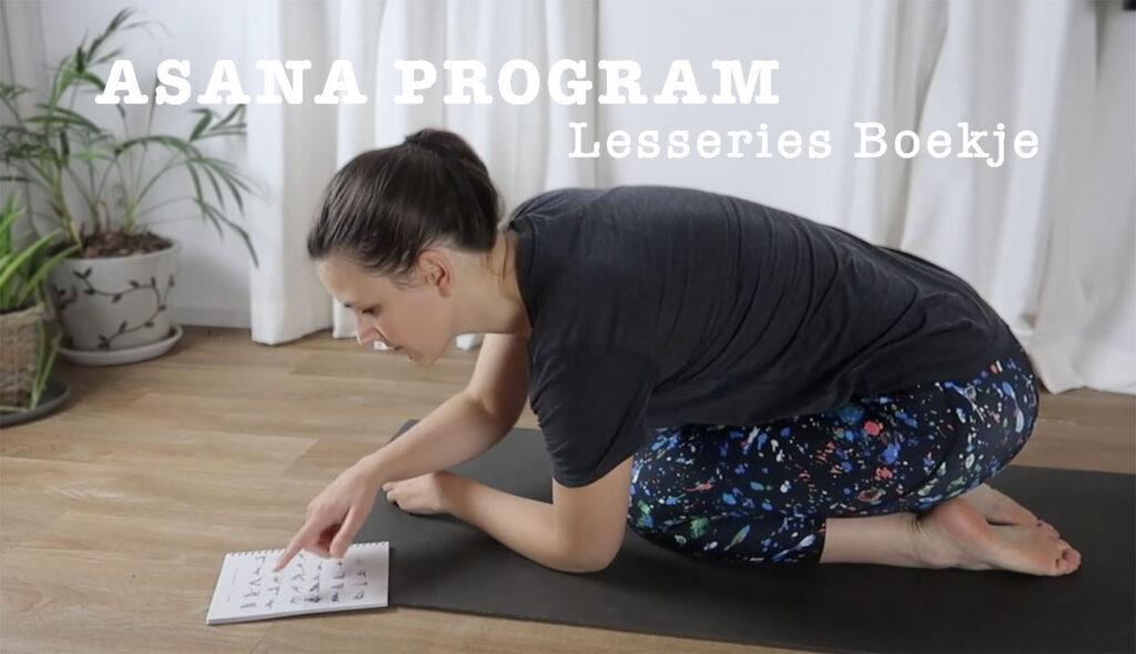asana program lesseries boek yogalessen