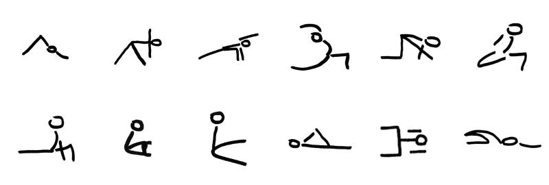 yogales stick figures