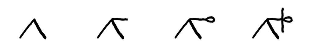 trikonasana houding tekenen